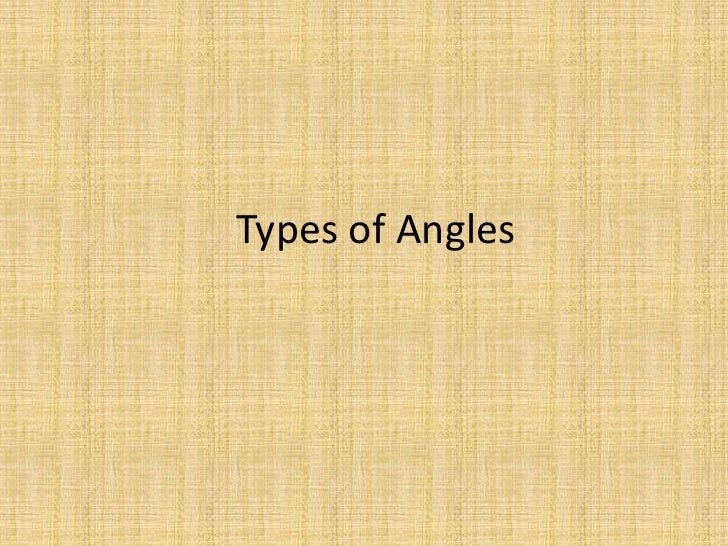 4th Grade Math - Types of Angles