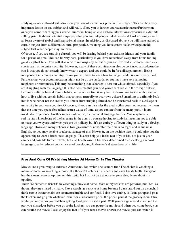 Study abroad essay introduction