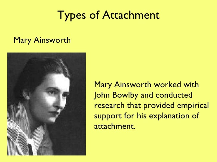 Types of attachment strange situation