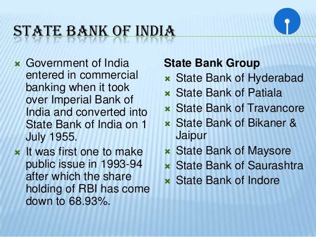 role of state bank of india Successful role played by state bank of india in promoting financial inclusion in india dr sunil ram gaikwad, assistant professor, department of economics rnc arts, jdb commerce and nsc science college, nasik road - 422 101 abstract.