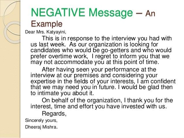 Good News Message Scenario