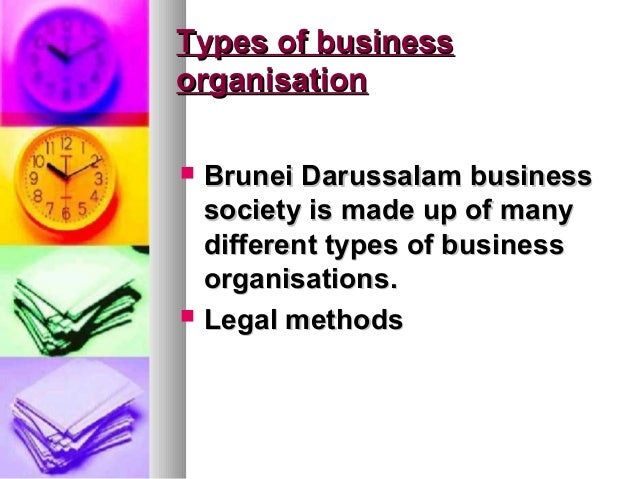 Types of businessorganisation   Brunei Darussalam business    society is made up of many    different types of business  ...