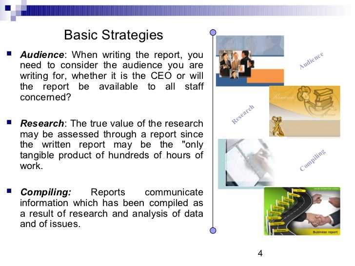 types of written business reports