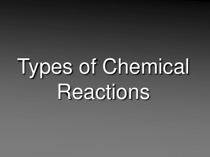 Types of Chemical Reactions<br />