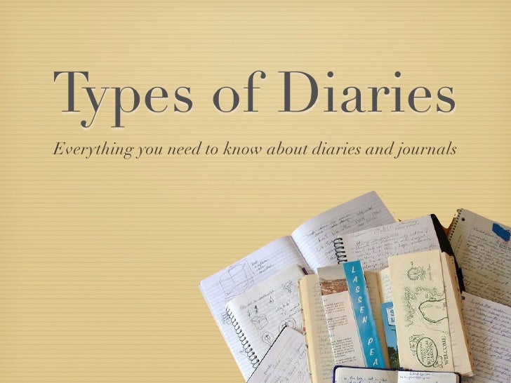 Types of Diaries Everything you need to know about diaries and journals