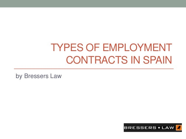 types of employment contracts It's your lucky day before you sign your employment contract, it's worth looking into the type of contract you're willing to accept.