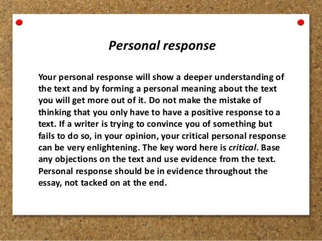 Personal argument essay