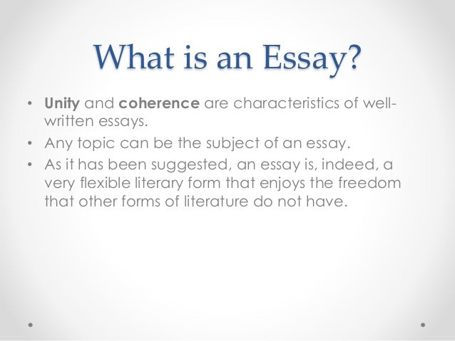 Different Type Of Essay