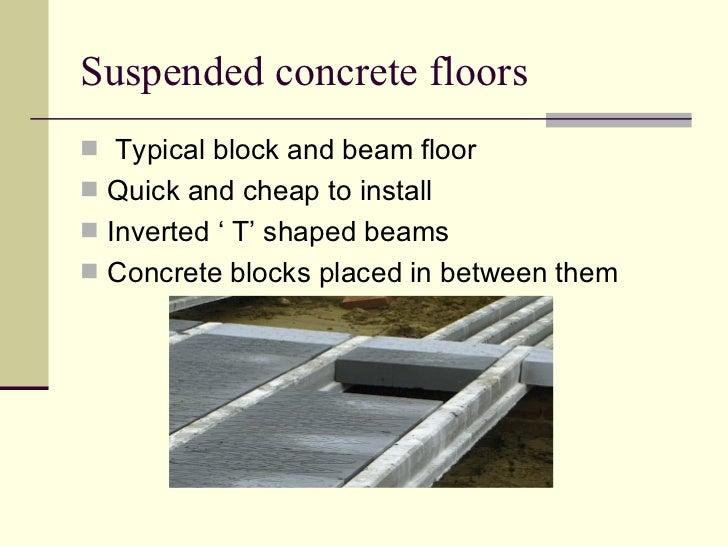 Types of ground floors for Suspended concrete floor