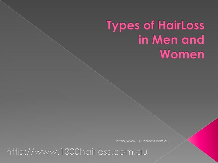 Types of HairLoss in Men and Women