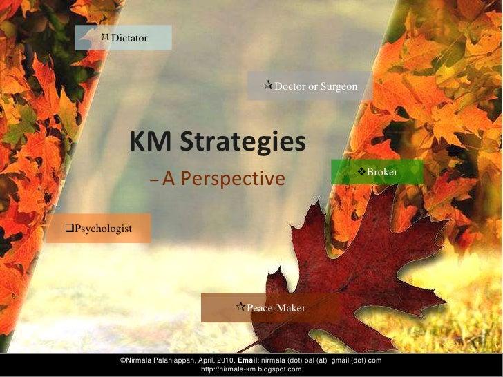 Dictator                                                        Doctor or Surgeon                KM Strategies          ...