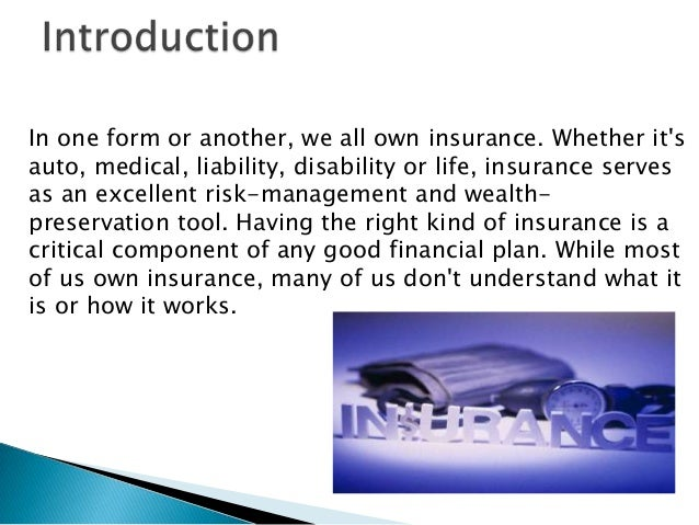 Insurance Is A Contract Whereby One Undertakes To Indemnify Another Against