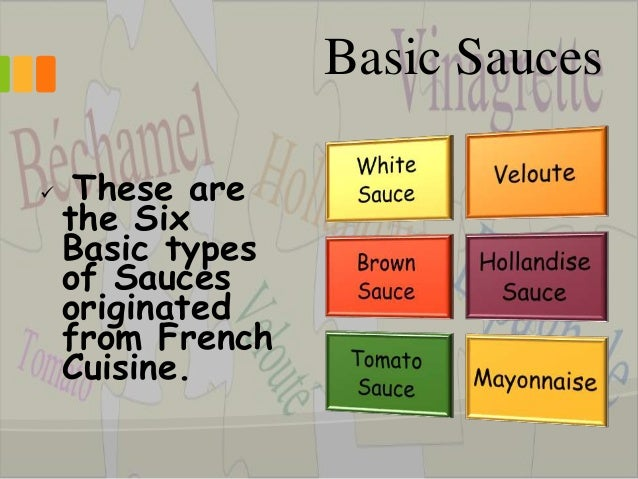 Image gallery mother sauces for 5 mother sauces of french cuisine