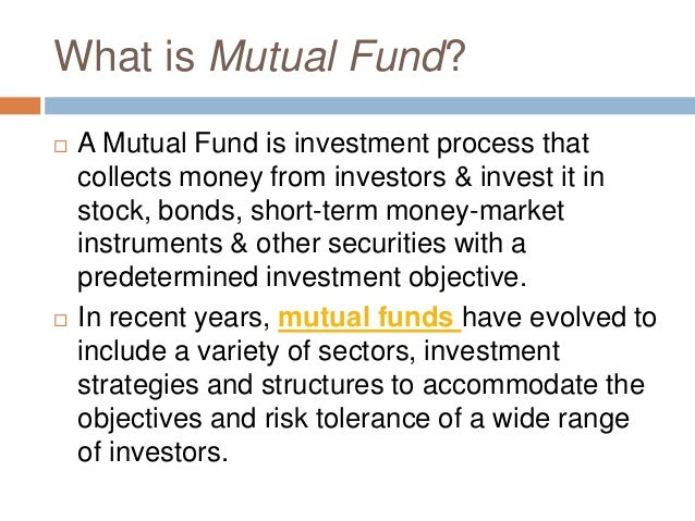 what is mutual funds india pdf
