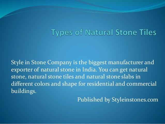 Types Of Natural Stone : Types of natural stone tiles