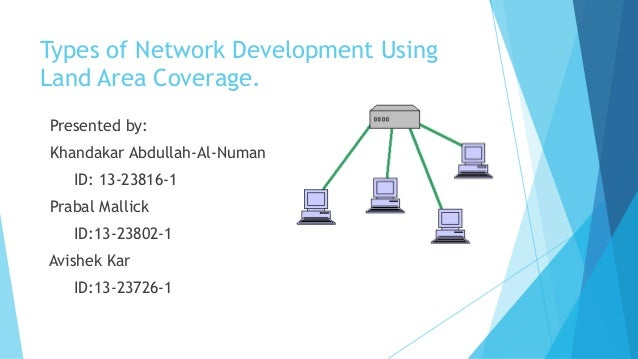 Types of Network Development UsingLand Area Coverage.Presented by:Khandakar Abdullah-Al-NumanID: 13-23816-1Prabal MallickI...