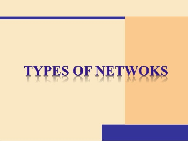 Topics  What is network ?  Types of networks • LAN (Local Area Network) • MAN (Metropolitan Area Network) • WAN (Wide Ar...