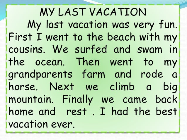 Descriptive essay beach vacation