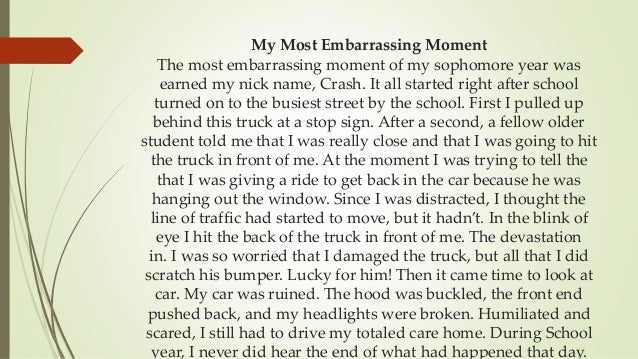 An Embarrassing Moment Essay