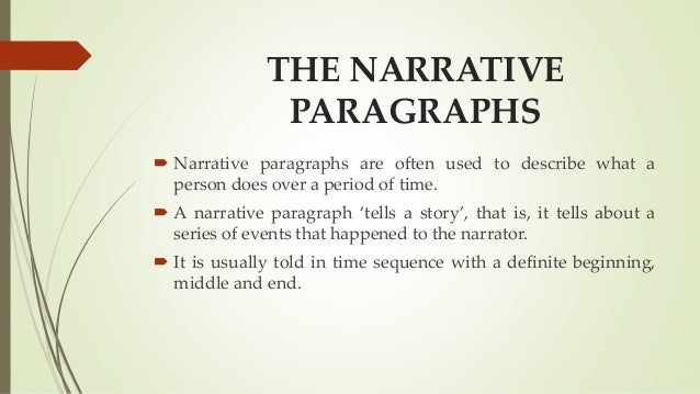 Descriptive And Narrative Essay