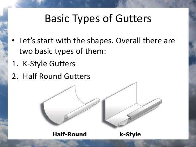 Types Of Rain Gutters Sunshinegutterspro
