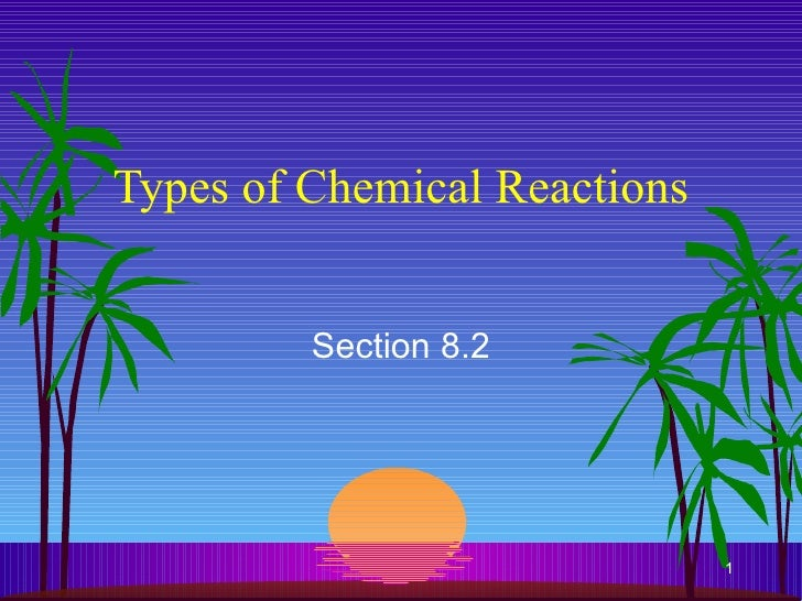 Types of Chemical Reactions Section 8.2