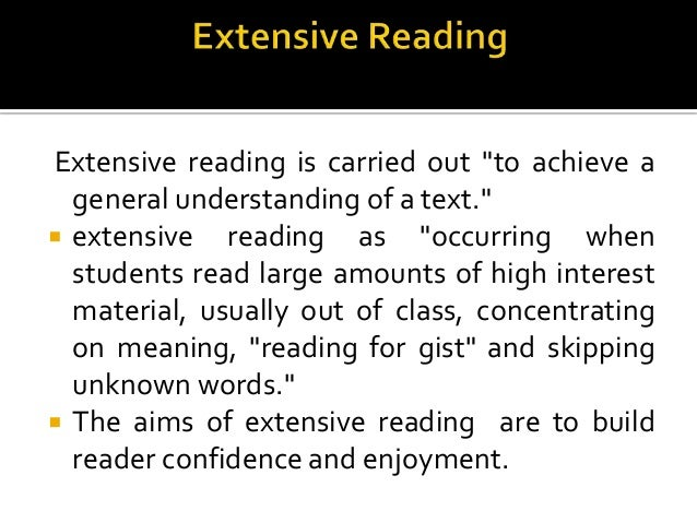 extensive reading 3 essay