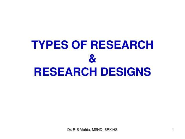 Research design types pdf