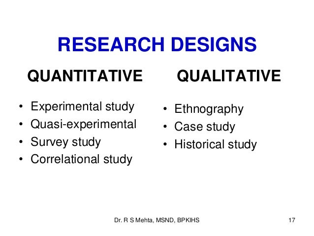 quantitative research types