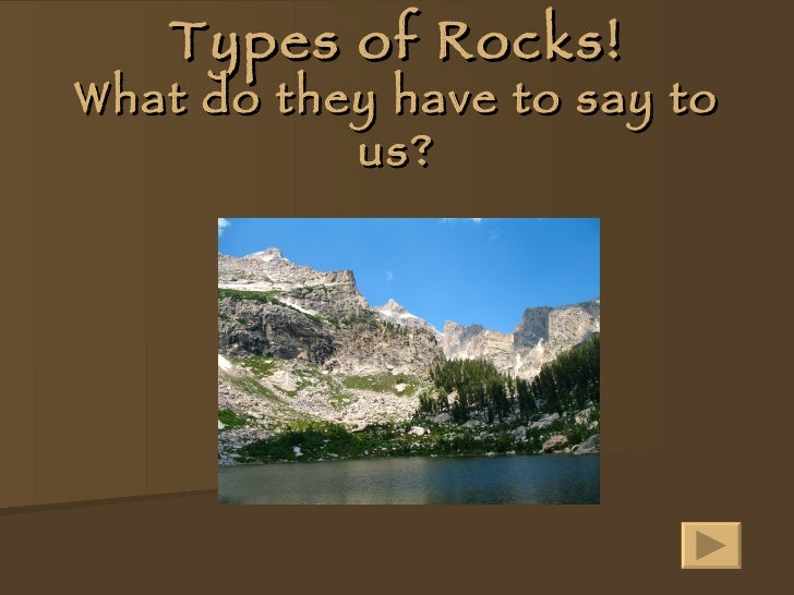 Types Of Rocks!