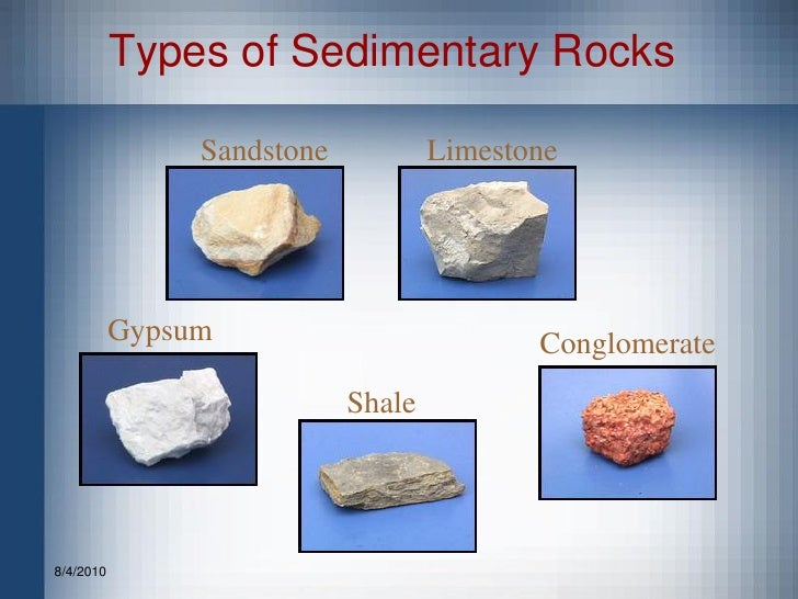 Types Of Sedimentary Rocks With Names
