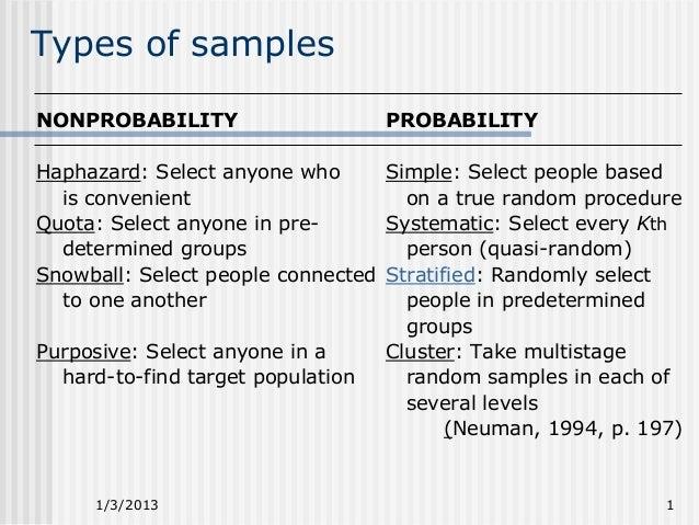 different types of sampling methods pdf