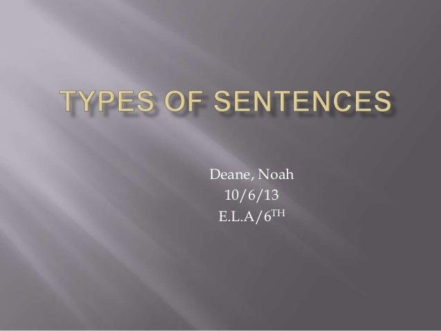 Deane, Noah 10/6/13 E.L.A/6TH