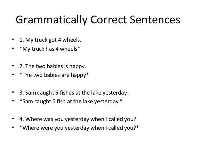 Is the sentence grammatically correct