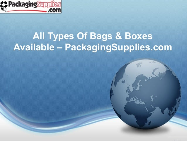 Types of shipping & boxes