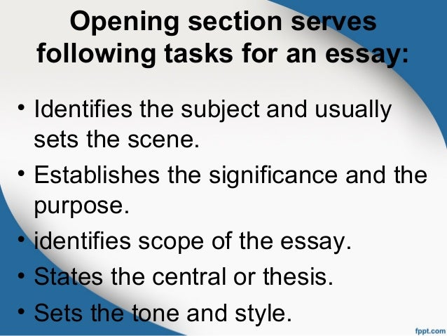 opening sections essay When students are writing an argumentative essay  to decide where the refutation section will large corporations specializing in opening and.