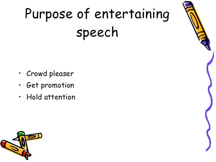 Speech purpose