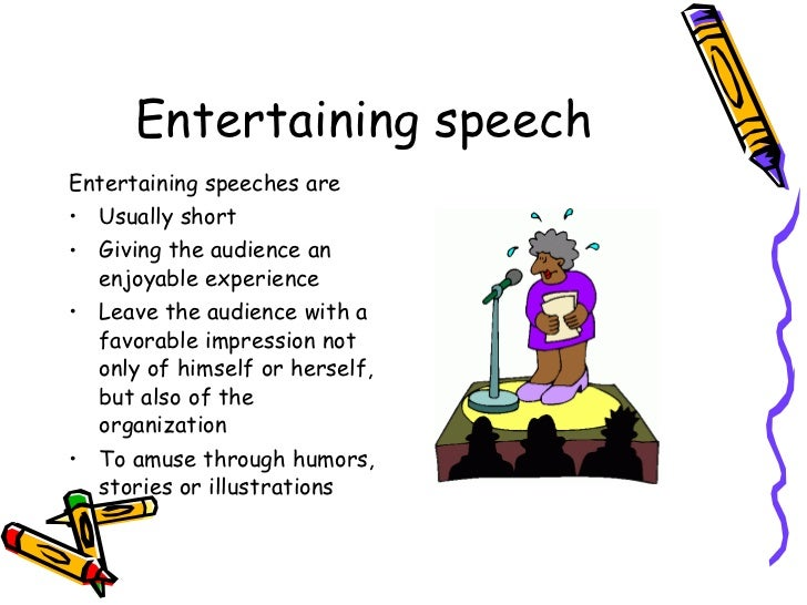 short speech ot entertain A short speech about love is a short oral presentation about the concept of love the speech could contain quotes on the matter, philosophical observations or personal anecdotes it could include the.