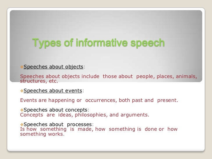 what to write an informative speech on