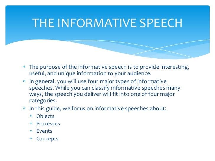 Buyinformative speech characteristics