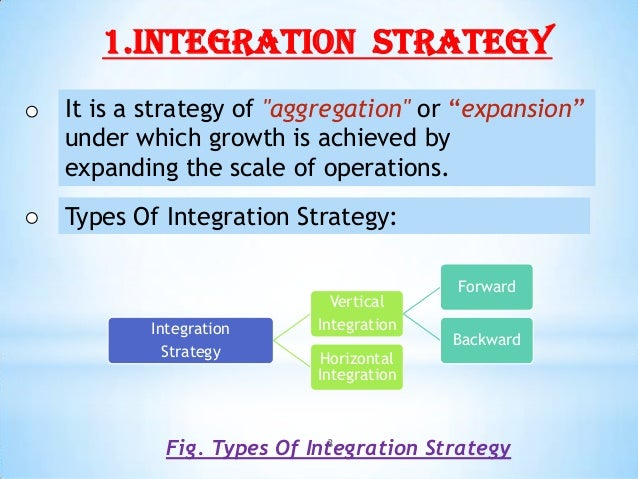 Two types of diversification strategy
