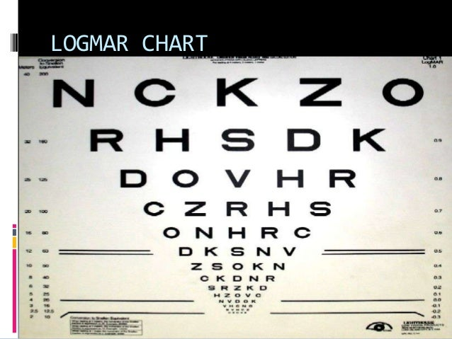 Test types used in optometry