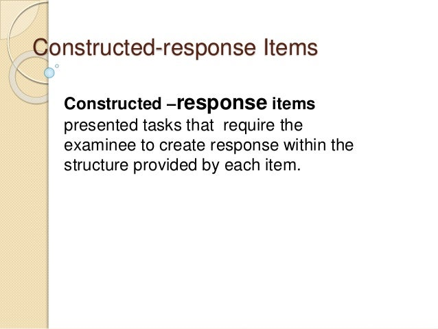 images about Constructed Response on Pinterest   Writing an     SlideShare