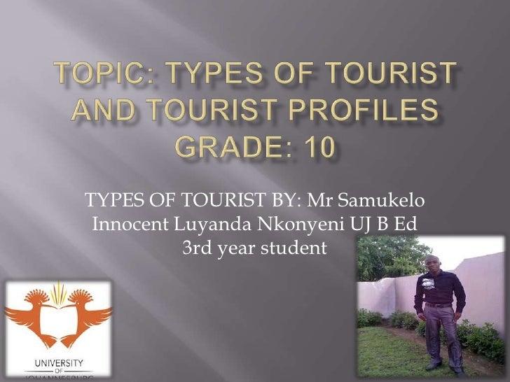 Types of tourist
