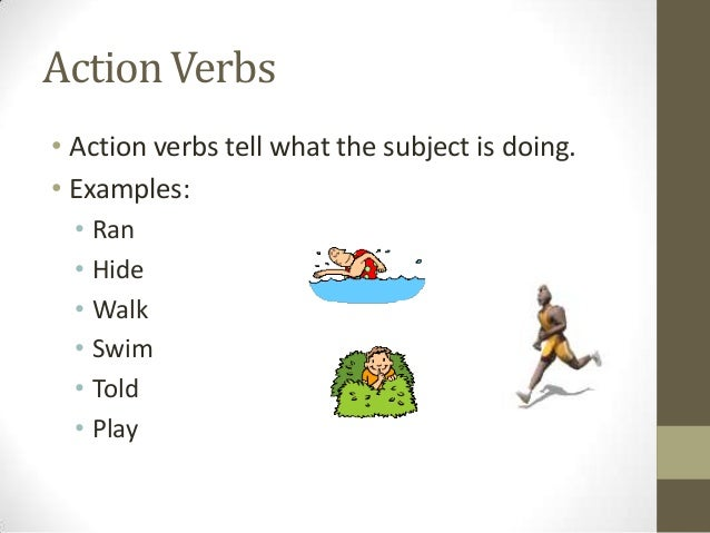 what are examples of action verbs