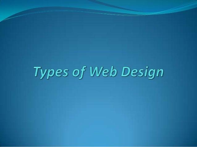 Types of Web Design
