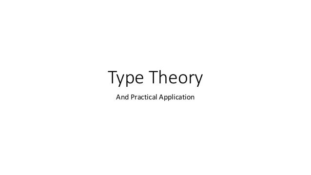 Type Theory and Practical Application