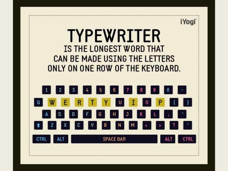 iYogi Wow Tech Facts: TYPEWRITER