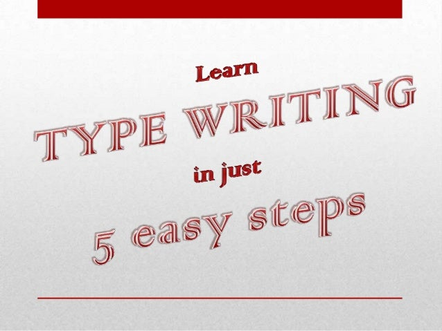 how to learn type writing