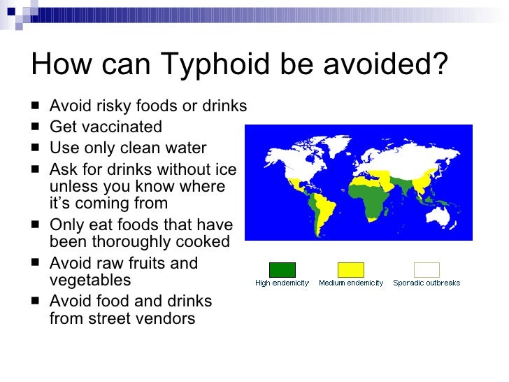 how to avoid getting typhoid